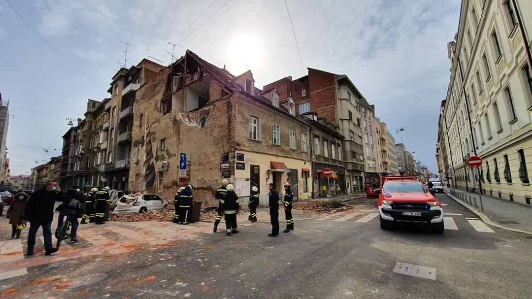 Snažan potres pogodio Zagreb: Naši vatrogasci od jutra su na terenu