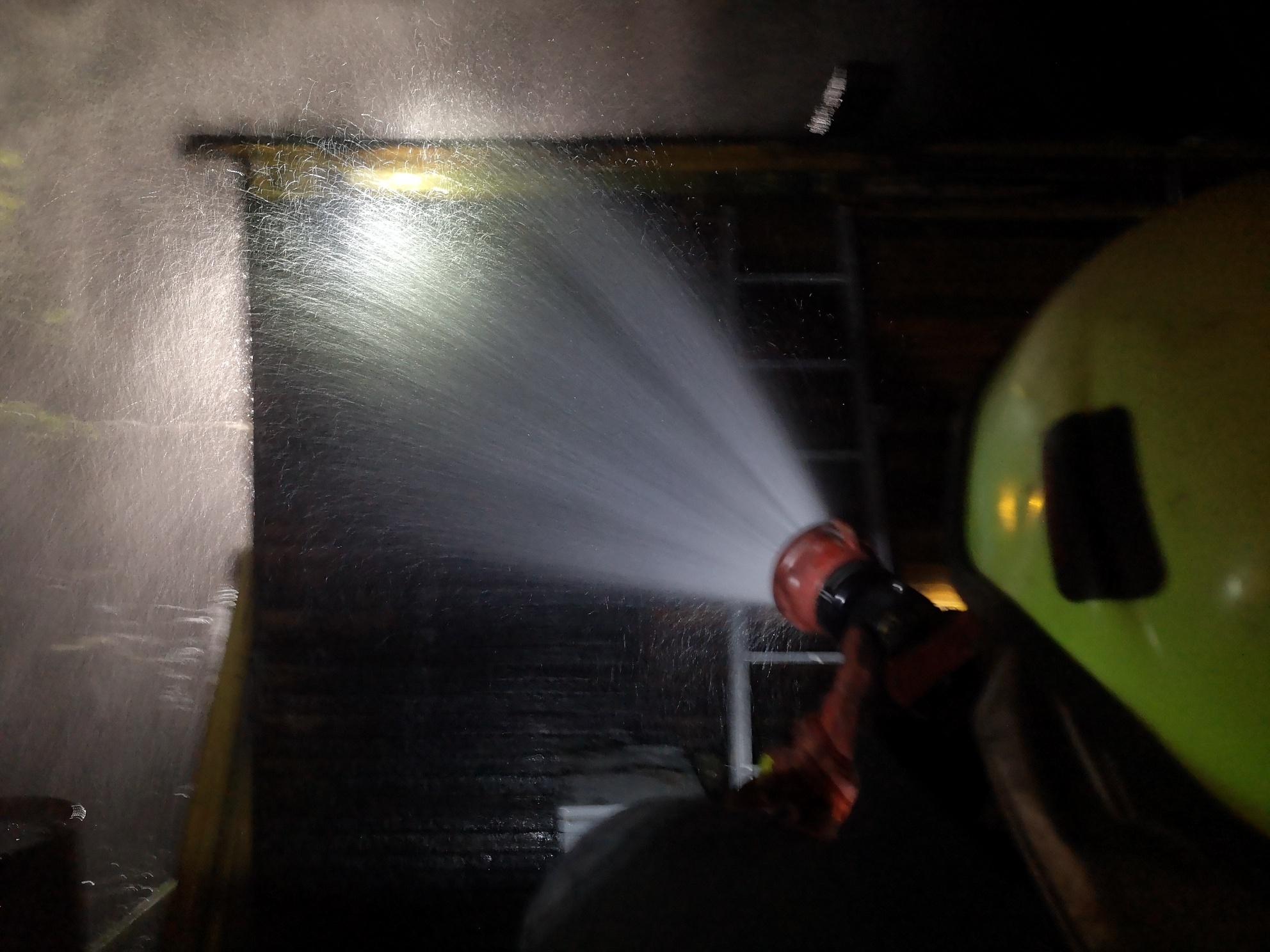 Intervencija: Požar barake na Borongaju